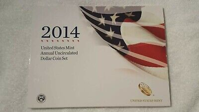 2014 United States Mint Annual Uncirculated Dollar Coin Set.