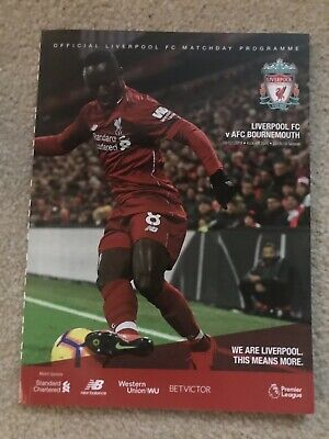 2018/19 - LIVERPOOL v AFC BOURNEMOUTH Programme (9th February 2019)