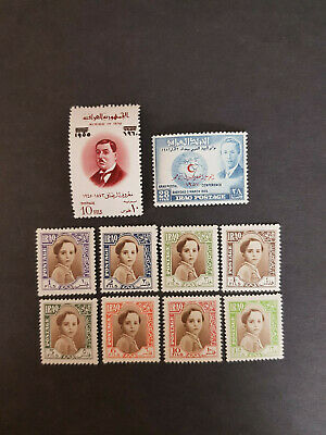 Iraq 1942-1960 King faisal II  MNH OG   3  sets    CV 14 £