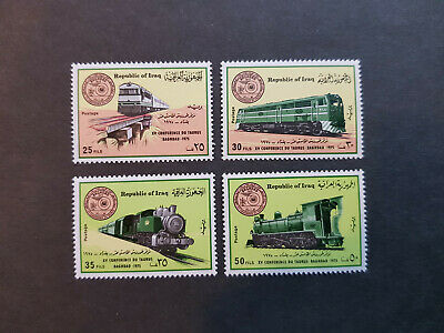 Iraq 1975 Trains Railway cinference Baghdad  MNH OG   sets    CV 44 £