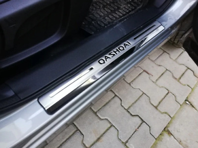 Chrome Door Sill Cover Scuff Guard Protectors 4pc for Nissan Qashqai (2014 on)