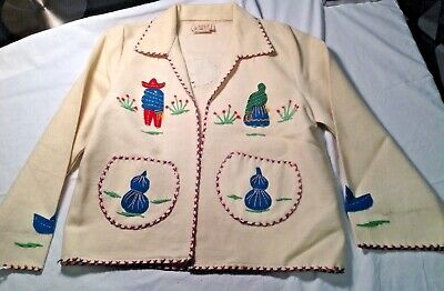 Vintage Lopez  Wool Mexican Children's Jacket.