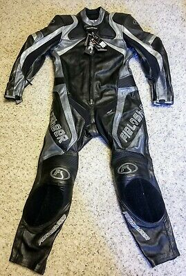 Fieldsheer Full Leather Motorcycle Suit Carbon Fang sz 46