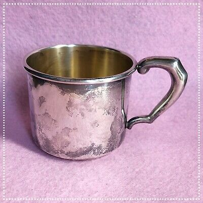 Vintage Sterling Silver Baby Cup 51g ~No Engraving~ Hallmarked STERLING 05