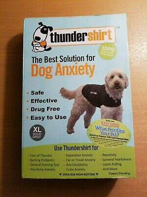 ThunderShirt Classic Dog Anxiety Jacket Solid Grey Size XL w/ box, NEW