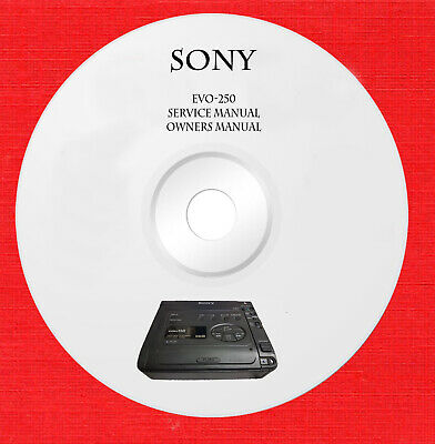 Service manual owner manual for Sony EVO-250 on 1 cd in pdf format