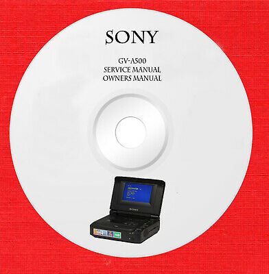 Service manual owner manual for Sony GV-A50 on 1 cd in pdf format
