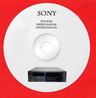 Service manual owner manual for Sony PCM-R700 on 1 cd in pdf format