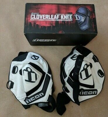 Icon Cloverleaf Knee Sliders, size L/XL, white