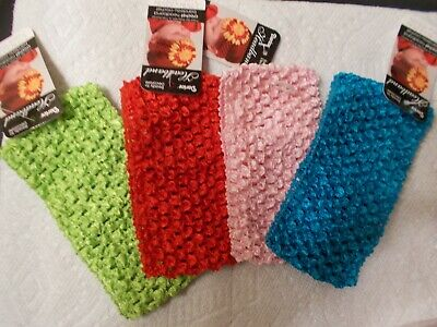 NWT Baby Infant Stretch Crochet Headband Lot of 4