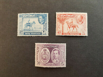 Iraq 1949  All Three Kings UPU  SG339-341 MNH OG    CV 16 £
