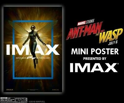 """Ant-Man And The Wasp 13"""" x 19"""" IMAX Mini Poster (Week 2) Brand New"""
