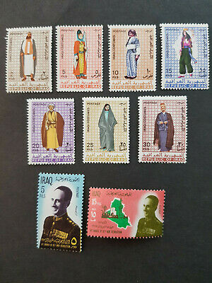 Iraq 1967 President Arif and Custumes MNH OG  2 sets  CV 10 £