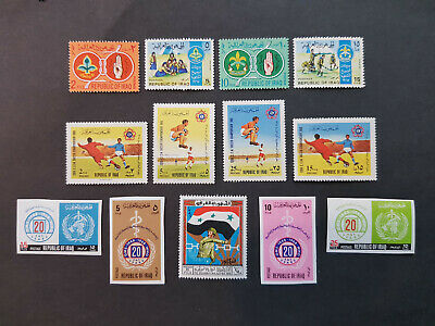 Iraq 1967-1968 Football Scouts MNH OG  4 sets  CV 15 £