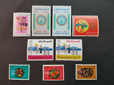 Iraq 1970-1971 air and postage Army Day  MNH OG  4 sets  CV 17 £