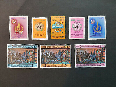 Iraq 1973-1974 Oil Human Rights  MNH OG  4 sets  CV 17 £