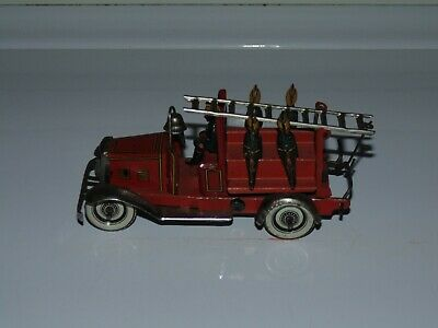 Tin wind-up Fire Engine Penny Toy Germany