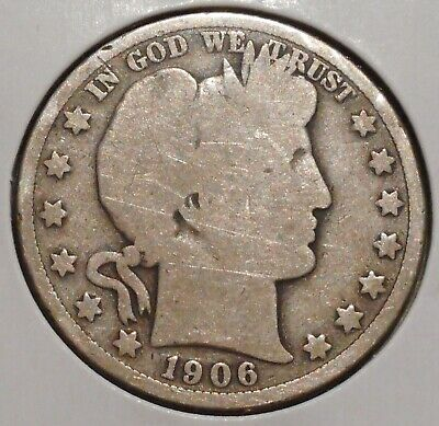 Barber Silver Half - 1906-D - Sunday Auction Event !! - $1 Unlimited Shipping