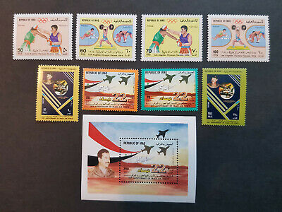 Iraq 1984-1985  Saddam Hussein Los Angeles olympics   MNH OG   2 sets  CV 19 £
