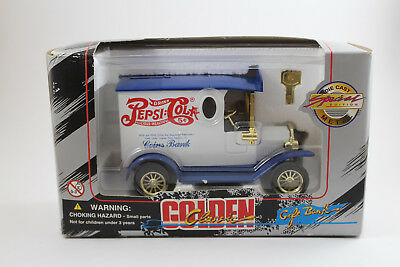 Pepsi Cola ~ Gift Bank Golden Classic Die Cast Metal Special Edition - New