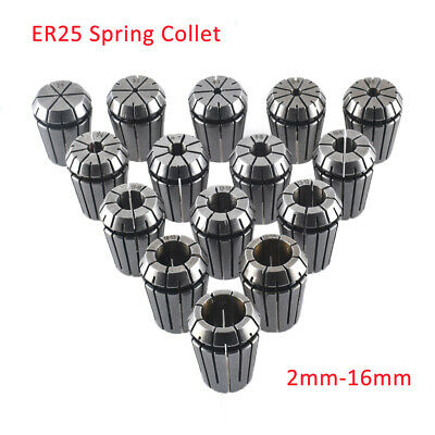 2mm-16mm ER25 Spring Collet For CNC Milling Lathe Tool Engraving Machine