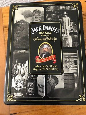 Jack Daniels Collectable Tin With 2 X Glasses