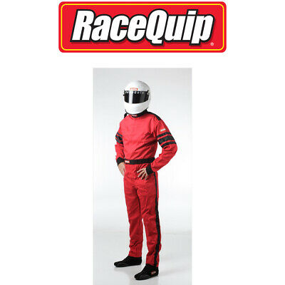 Racequip 110016 Red X-Large Driving Suit One Layer 1 Piece 110 Series Racing