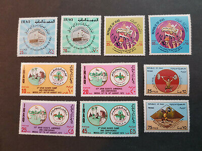 Iraq 1972-1977   weightlifting baghdad  MNH OG  4 sets   CV 30 £