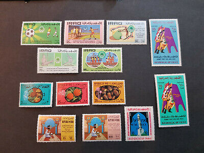 Iraq 1971-1972  Army Day  MNH OG  5 sets   CV 37 £