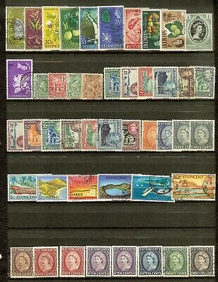 St Vincent, Lot of 45 Different Stamps, Mostly Used