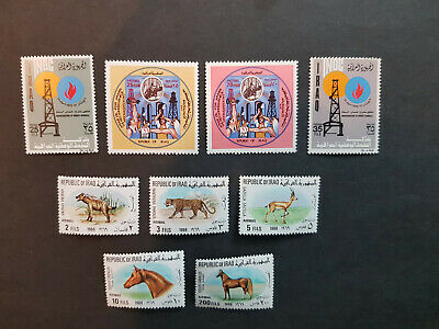 Iraq 1969-1972 Air Animals  MNH OG  3 sets   CV 35 £