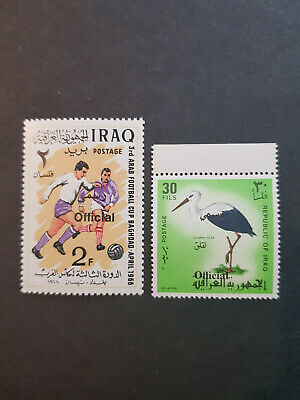 Iraq 1971-1972 Official series Birds  MNH OG  2 issues   CV 25 £