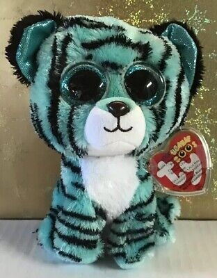 ff9d9c357c0  TESS  - TY BEANIE BOO Turquoise Black Stripe Tiger - JUSTICE Exclusive w