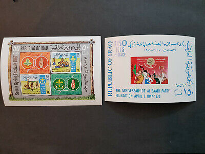Iraq 1967-1970  Scouts Two Miniature sheets  MNH OG   CV 27 £