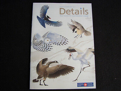 Stamp Catalog ~ Details Canada Post ~ August - October 2018 #7 ~ Birds of Canada