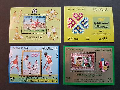 Iraq 1982-1984  Saddam OlympicsLos Angeles 4 Miniature sheets MNH OG  CV 19 £