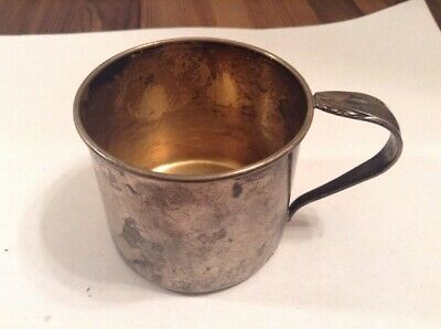 """Vintage Antique """"heirloom Sterling""""  Silver Baby Cup"""