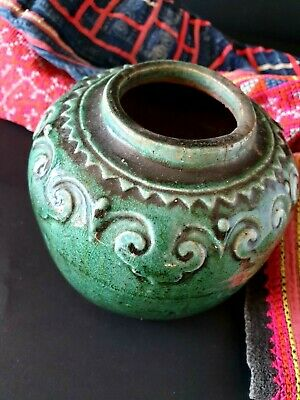 Old Chinese Glazed Stone Jar (b) …beautiful collection / display Piece
