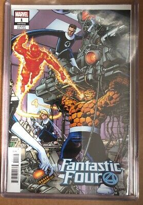 Fantastic Four #1 (2018) 1:500 Perez Variant Shipped In Toploader