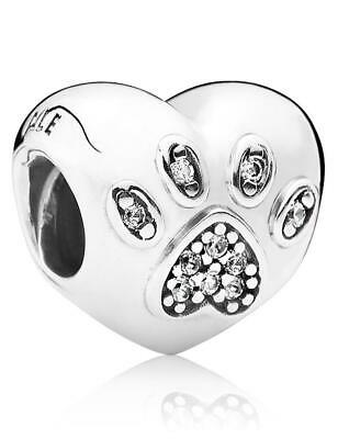 7f143a222 Authentic Genuine Pandora Sterling Silver I Love My Pet Charm 791713CZ
