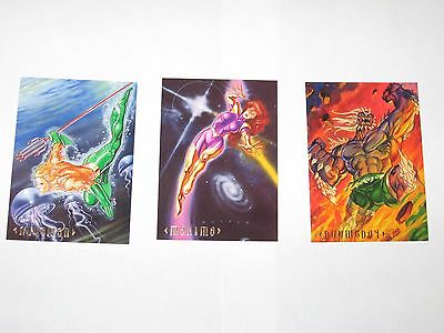 1994 DC MASTER SERIES PROMO 3 CARD SET N1 Ci1 P1 NON SPORT CARDS ILLUSTRATED!!