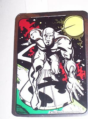 1992 Silver Surfer Marvel Vending Machine Non-Prism Foil Sticker! Rare!!