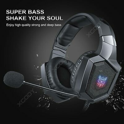 Onikuma Gaming Headset K8 for New Xbox One PS4 PC Stereo RGB LED MIC Headphones