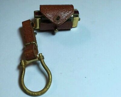 Vintage LORD Miniature Harmonica In Leather Key Chain ITALY