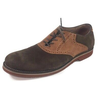 204dc1a598c3c G.H. BASS MEN'S Oxford Genuine Leather Suede Lace-up Saddle Shoe Size 10D