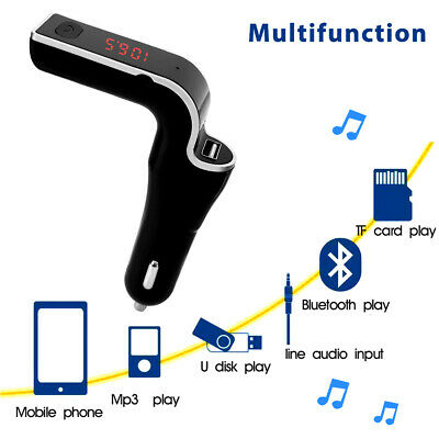 CA Bluetooth FM Transmitter USB Car Charger Wireless Radio Adapter MP3 TF Player