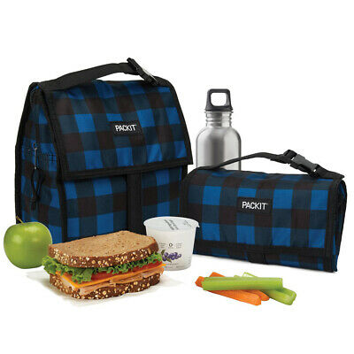 NEW Packit Freezable Lunch Bag Navy Buffalo