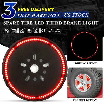 Spare Tire LED Light Wheel Rear 3rd Brake Decoration Light For Jeep Wrangler JK