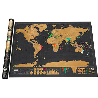 Scratch Off Map World Deluxe Large Personalized Travel Poster Travel Atlas TRL