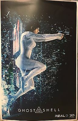 GHOST IN THE SHELL Scarlett Johansson NEW MOVIE POSTER Real D 3D Promo ORIGINAL